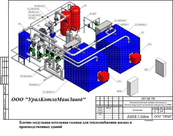 Блочно-модульные котельные на газе